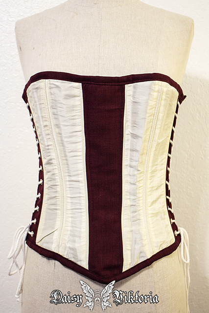 49eaeb1a47a Overbust Side Laced Sample Corset For Waist ~29-34