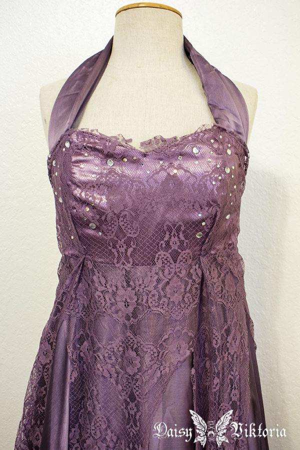 purple lace chiffon elf princess gown