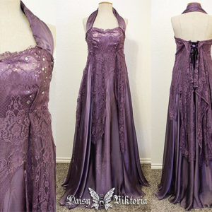 purple lace chiffon elf princess gown