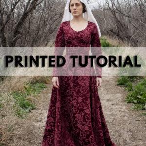 Medieval Gown cotte kirtle printed tutorial book