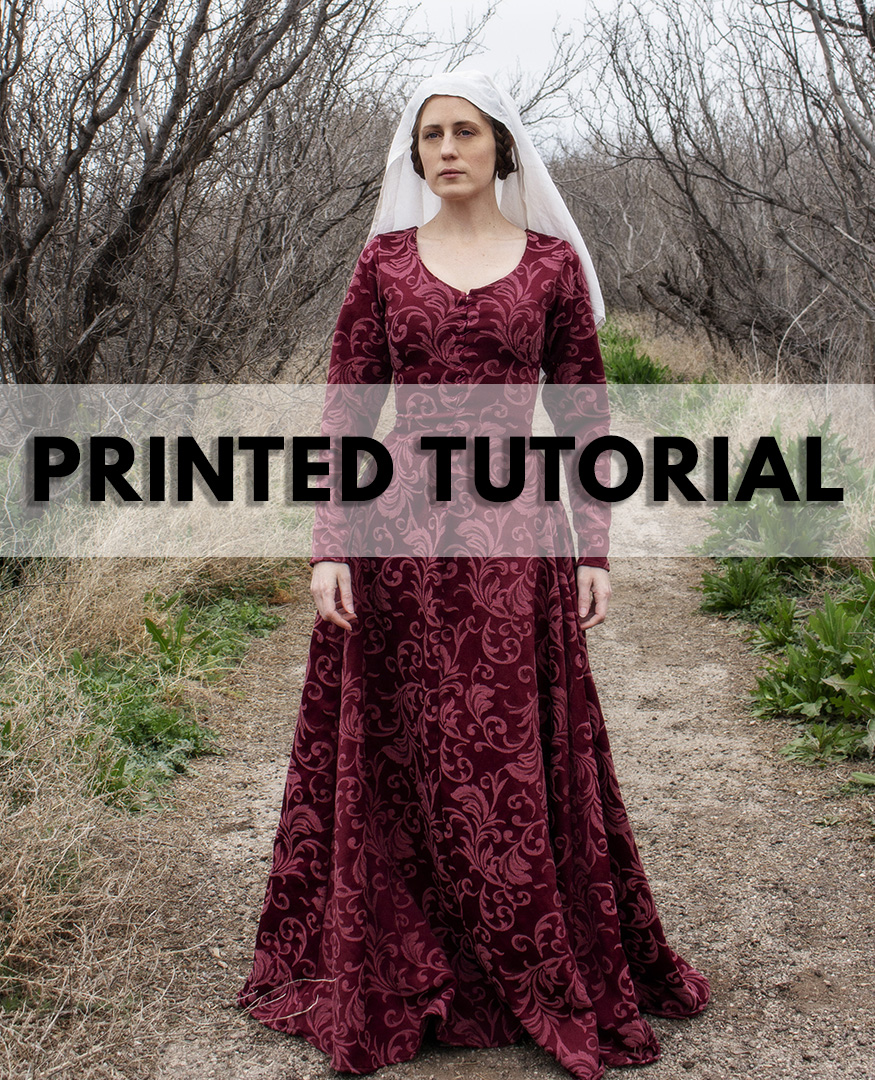 Medieval Dress – Kirtle, Cotehardie, Gothic Fitted Gown – Printed Tutorial  Book