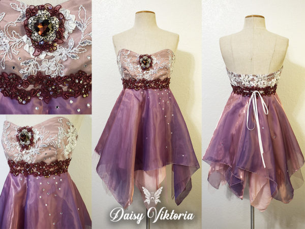 spring pink fairy faerie assymetric dress