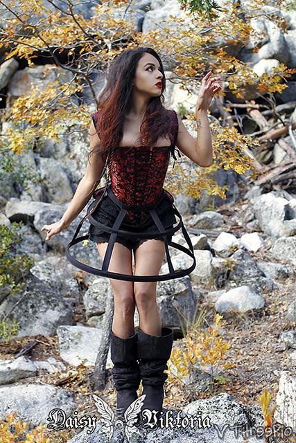 mini cage hoop skirt model