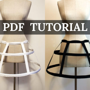 mini cage hoop skirt tutorial PDF