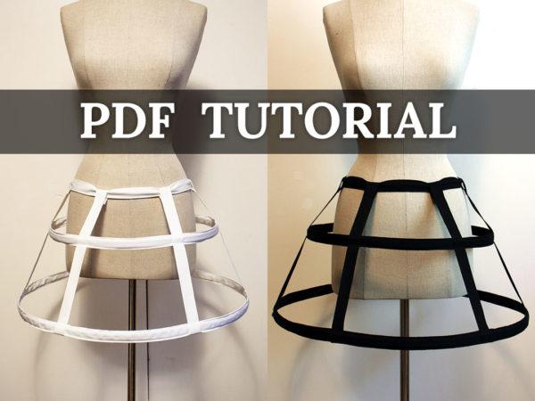 mini cage hoop skirt tutorial PDF