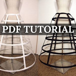 PDF hoop skirt cosplay pattern tutorial