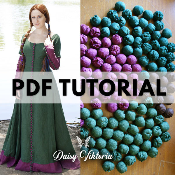 medieval middle ages costume button tutorial